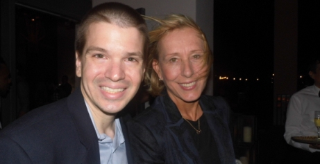 Chris Yandek, Martina Navratilova 2014, Martina Navratilova Art Basel, Chris Yandek Martina Navratilova, Art Basel 2014, Art Basel Celebrities 2014, IWC Schaffhausen Art Basel Event, IWC Art Basel Event 2014, Celebrities on South Beach, Celebrities in Miami 2014, Martina Navratilova Miami Beach, W Hotel IWC Event 2014