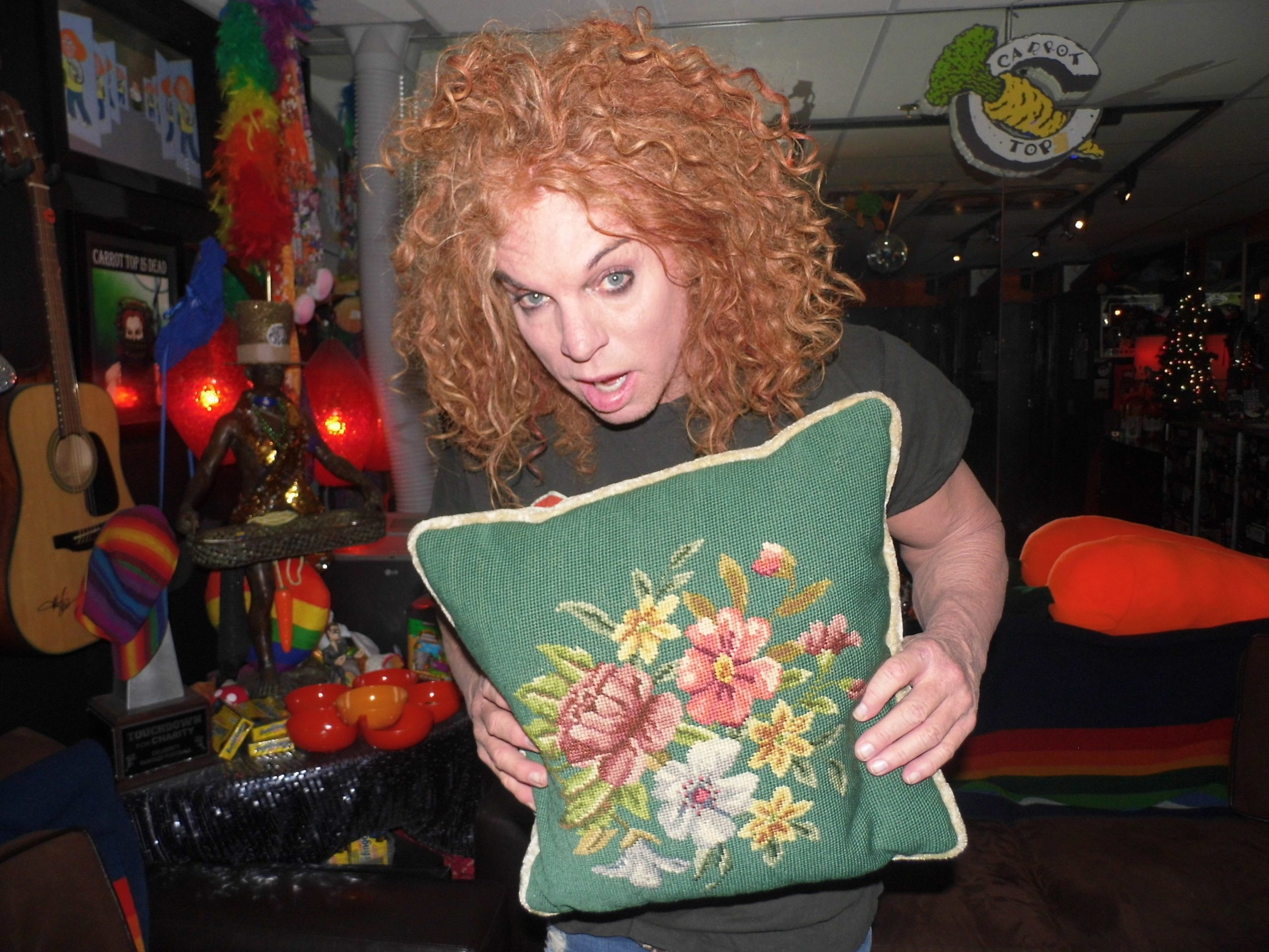 Carrot Top Pillow, Carrot Top Jerry Lewis Pillow, Jerry Lewis Pillow