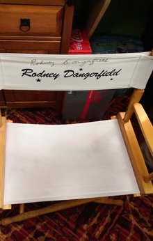 Rodney Dangerfield Autographed Chair, Rodney Dangerfield Chair, Rodney Dangerfield Laugh Factory Las Vegas, Rodney Dangerfield Director's Chair