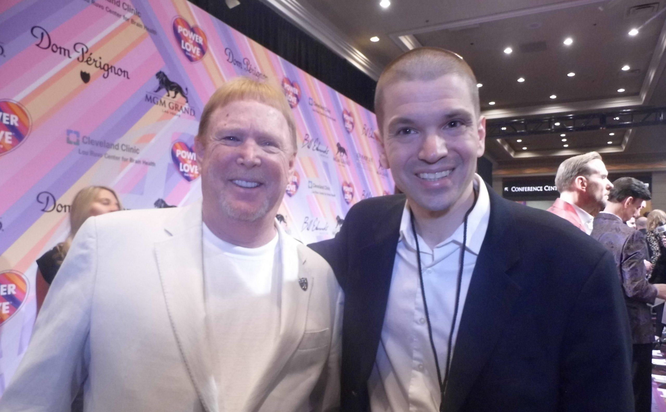 Mark Davis, Chris Yandek, Raiders Owner Mark Davis, Power of Love Gala 2019, Power of Love Gala Mark Davis, Mark Davis Las Vegas 2019, Chris Yandek Mark Davis