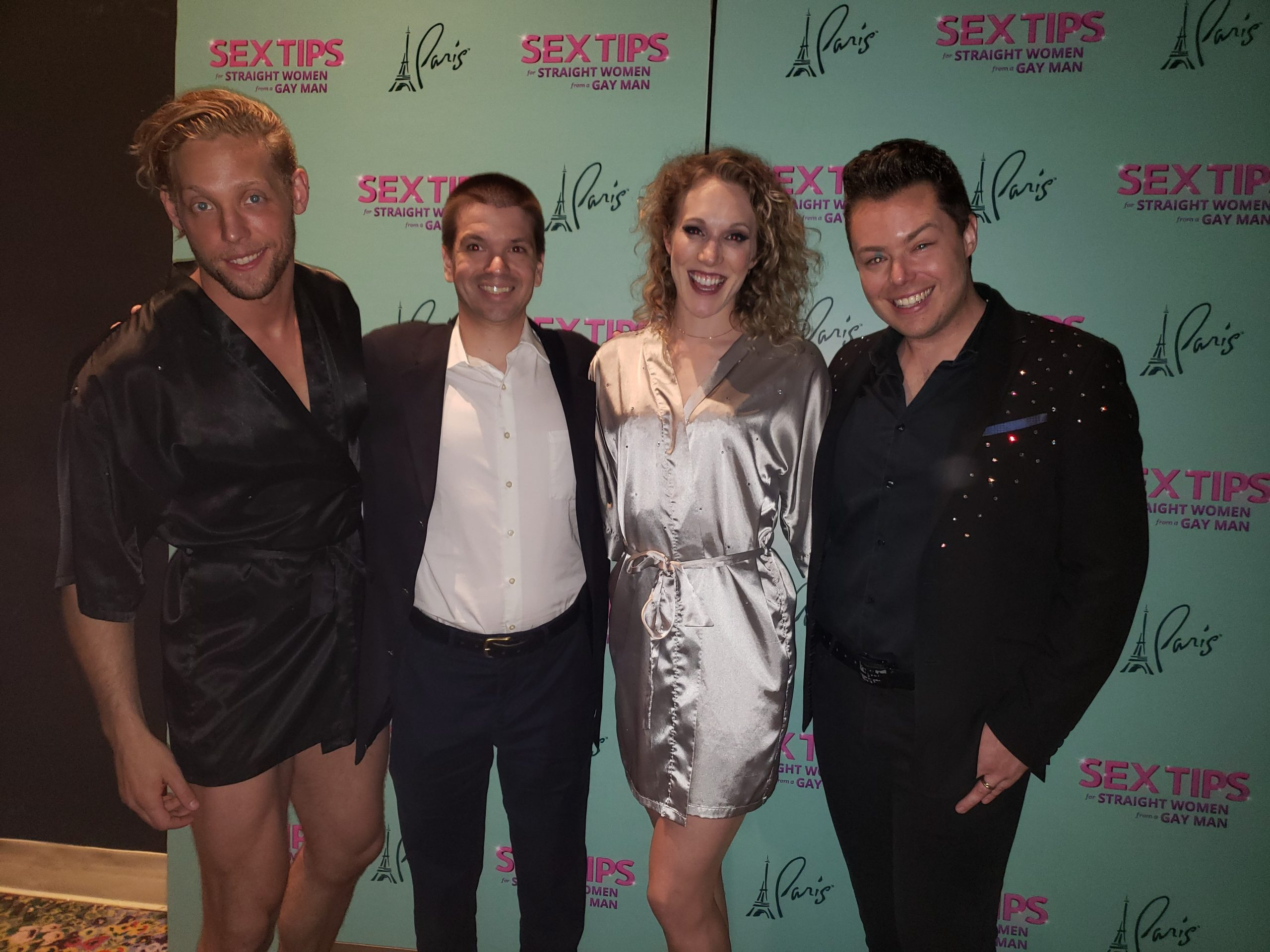 Chris Yandek, Sex Tips Las Vegas Show, Sex Tips Las Vegas Show, Mark Melton Jr, Makenzie Fly, Colin Cahill, Sex Tips for Straight Women From a Gay Man Las Vegas, Las Vegas 2019, Las Vegas Shows 2019, Sex Tips for Straight Women from a Gay Man Cast, Sex Tips Las Vegas Show 2019