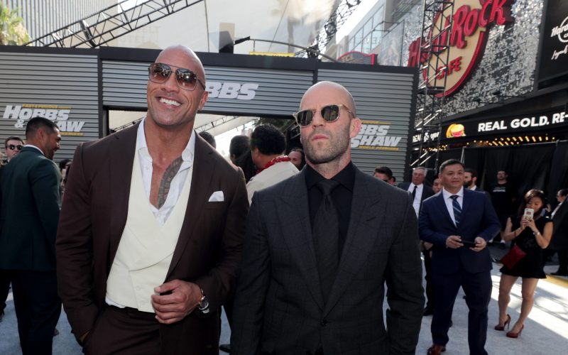 Dwayne Johnson 2019, Jason Statham 2019, Fast and Furious Presents Hobbs and Shaw World Premiere