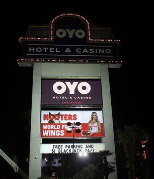 Oyo Las Vegas Hotel and Casino, Oyo Las Vegas Hotel Sign, Oyo Las Vegas Sign, Oyo Las Vegas Marque