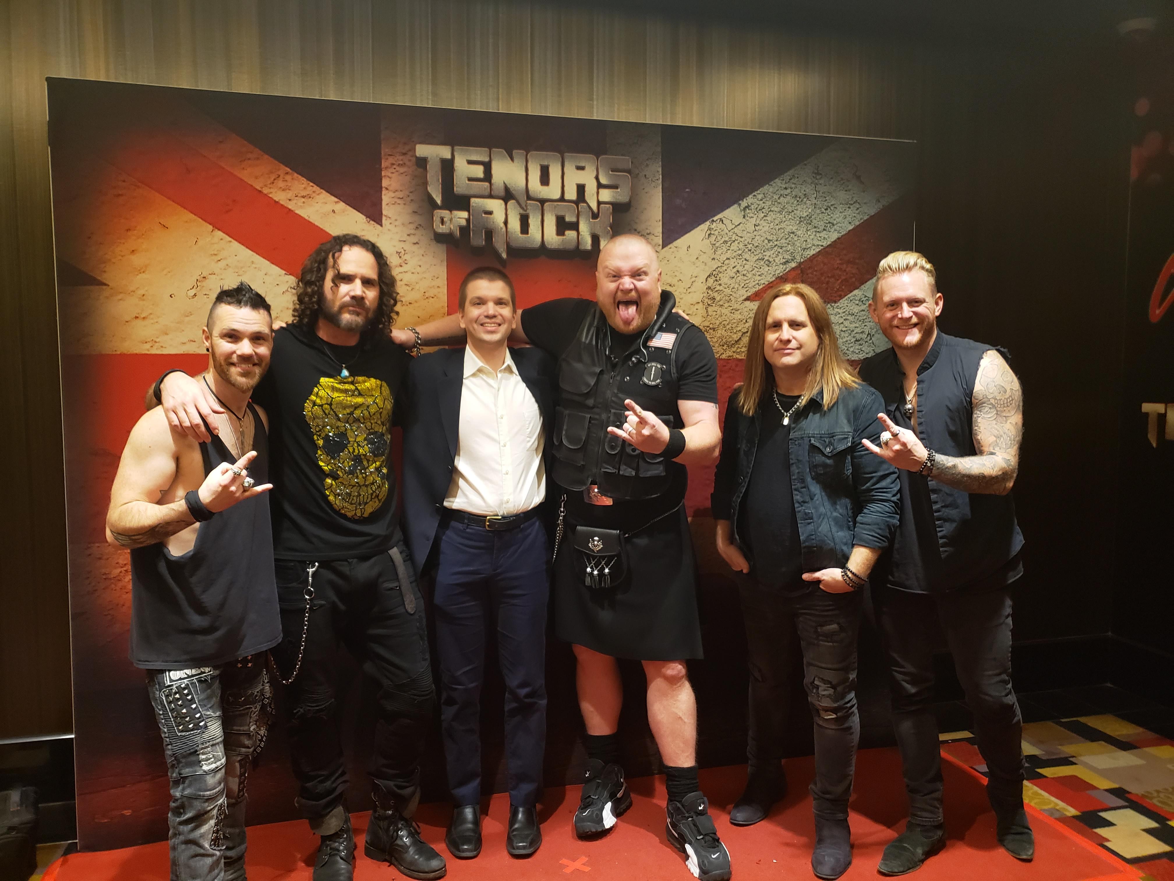 "Tenors of Rock Las Vegas, Tenors of Rock Las Vegas Show, Tenors of Rock 2019, Chris Yandek, Tenors of Rock Las Vegas, David ""Dai"" Richards, Jimmy Denning, Jonathan Williams, Dan Schumann"