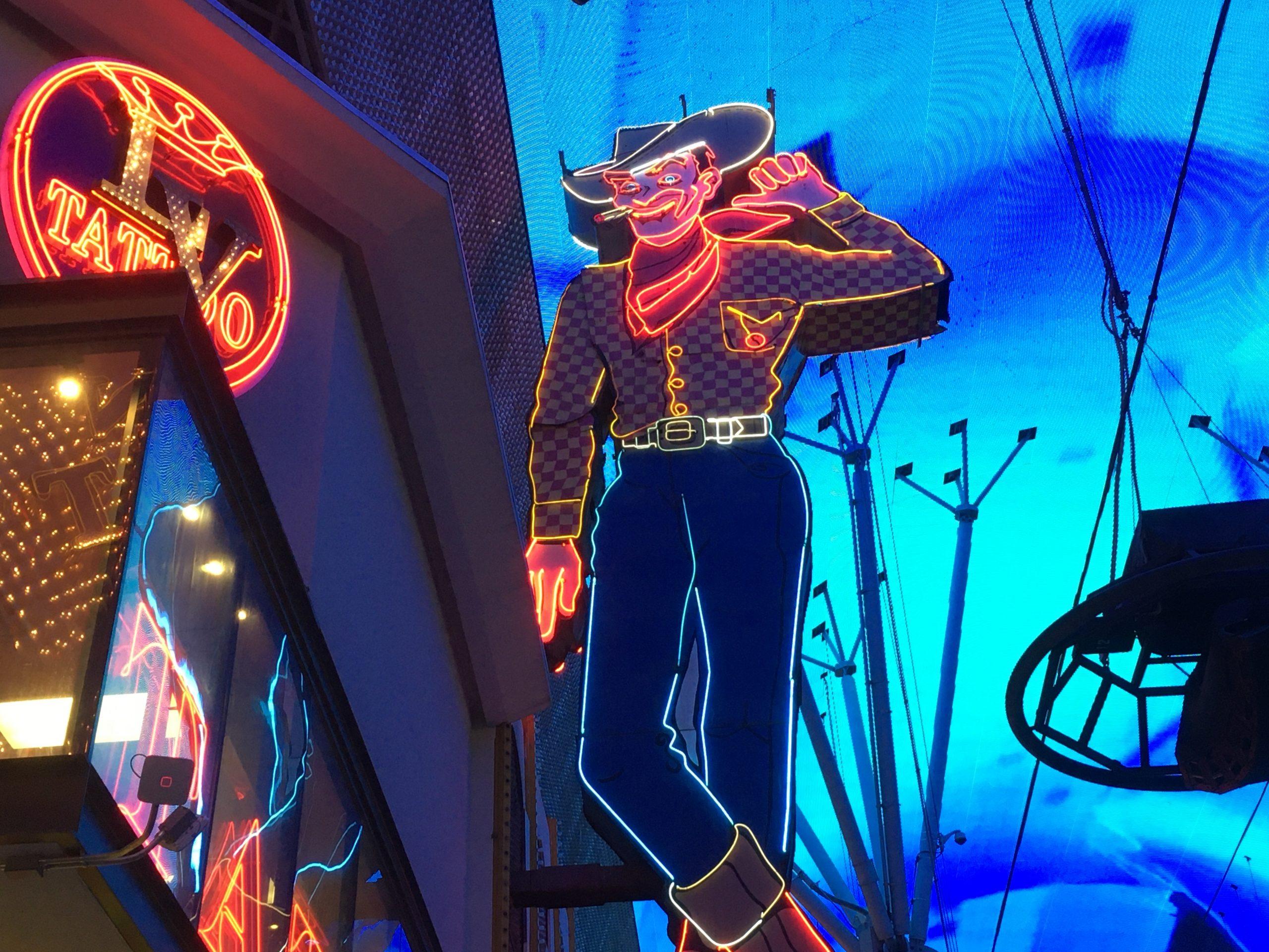 Fremont Street Experience 2019, Las Vegas 2019, Las Vegas Entertainment Scene 2019, Las Vegas News 2019, News 2019, Vegas Vic Fremont Street Experience, Vegas Vic Sign 2019, Vegas Vic Sign Lights Up, Vegas Vic Sign Lit Up, Vegas Vice 2019