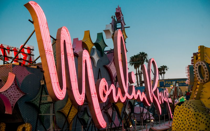 Moulin Rouge Sign, Moulin Rouge Casino Sign, Moulin Rouge Hotel and Casino Sign, Moulin Rouge Las Vegas Sign, Moulin Rouge Neon Museum