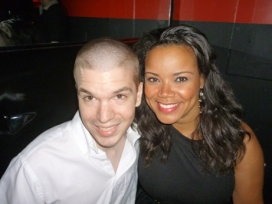 With Singer Kimberley Locke on South Beach at Score Nightclub