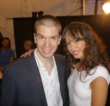 With Karina Smirnoff of Dancing with the Stars