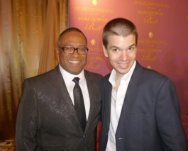 With Norman Wedderburn of the Miami Make-A-Wish Foundation