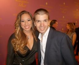 With Singer Melanie Amaro