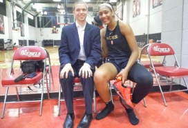 With WNBA Star A'ja Wilson of the Las Vegas Aces