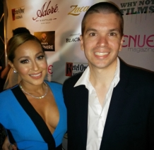 With Adrienne Bailon