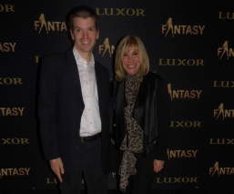 With Producer Anita Mann of the Las Vegas Show Fantasy at the Luxor
