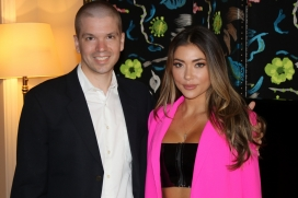 With Arianny Celeste of the UFC