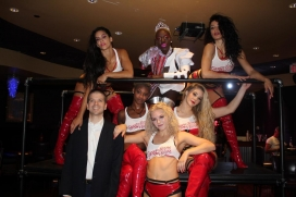 With Cherry Boom Boom at their Las Vegas residency at the Oyo Las Vegas Hotel and Casino
