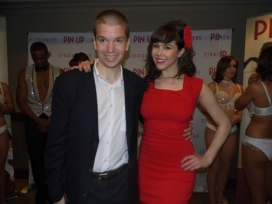 With Former Playmate of the Year Claire Sinclair