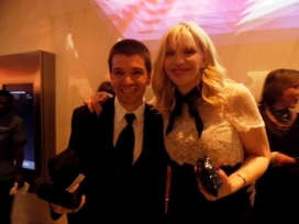 With Courtney Love