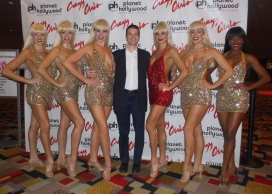 With the Cast of the Las Vegas Show Crazy Girls at Planet Hollywood Hotel and Casino