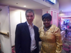 With Aretha Franklin Impersonator Denita Asberry of the Las Vegas Show Legends in Concert
