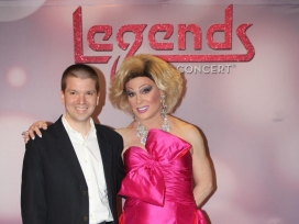 With Las Vegas, entertainment legend Frank Marino at Legends in Concert