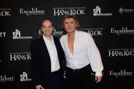 With international magician/illusionist Hans Klok at his holiday show for his Las Vegas residency at the Excalibur Hotel and Casino