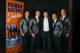 With the Music Group Human Nature at their show at The Venetian