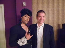 With Prince Impersonator Jason Tennerat his Las Vegas Show