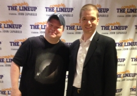 With Comedian John Caparulo at his residency at Harrah's Las Vegas Hotel and Casino