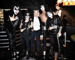 With the cast of the Kiss tribute band show KISS THIS at the Rio All-Suites Hotel and Casino