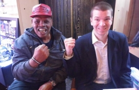 With Boxer Leon Spinks