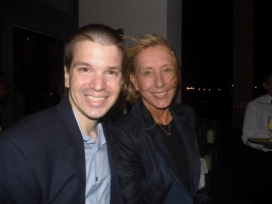 With Martina Navratilova