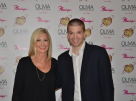 With Olivia Newton-John