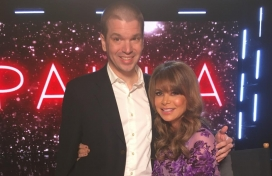 With Paula Abdul at her Las Vegas concert residency at the Flamingo Hotel and Casino