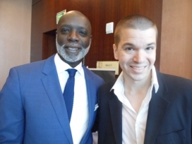 With Peter Thomas of The Real Housewives of Atlanta