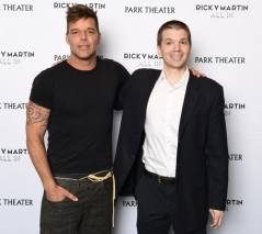 With Ricky Martin