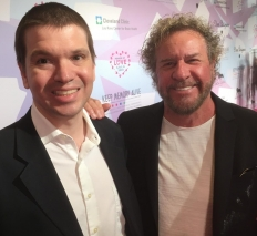 With Sammy Hagar