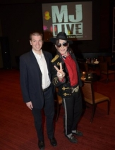 With Michael Jackson Impersonator Santana Jackson at MJ Live at the Stratosphere in Las Vegas