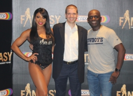 With Delecia Dean and Comedian Sean Cooper of the Las Vegas show Fantasy at the Luxor Hotel and Casino