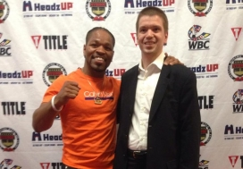 With Boxer, WBC Welterweight Champion Shawn Porter