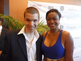 With Actress Tatyana Ali
