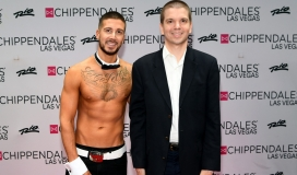 With Vinny G. of the Jersey Show during his residency with Chippendales at the Rio in Las Vegas