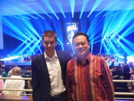 With William Hung of American Idol Fame at the Park Theater in Las Vegas