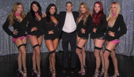 With the Cast of the Las Vegas Show X Burlesque at the Flamingo Hotel and Casino