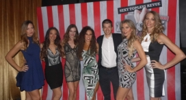 With the Cast of the Las Vegas Show X Rocks at Bally's Hotel and Casino