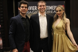 With Magician/Illusionist Xavier Mortimer and assistant Allie Sparks at his Las Vegas Strip Show at Bally's Hotel and Casino