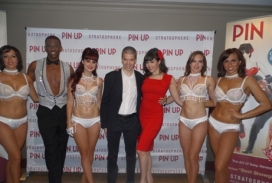 With the Cast of the Las Vegas Show Pin Up