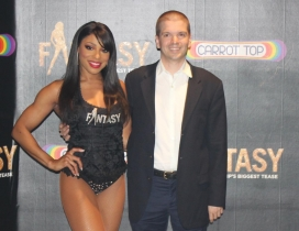 With Delecia Dean of the Las Vegas Show Fantasy at the Luxor Hotel and Casino