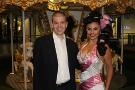With All Around Las Vegas Entertainer Melody Sweets at the Sugar Factory on the Las Vegas Strip