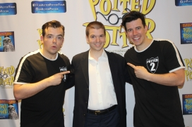 With actors James Percy and Joseph Maudsley of the Las Vegas unauthorized Harry Potter show titled Potted Potter at Bally's Hotel and Casino