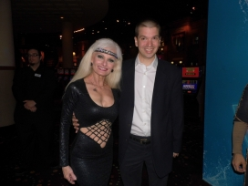 With Arbalist Silvia Silvia of the Las Vegas Show World of Wonder at the Rio